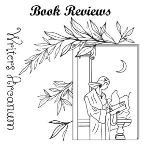 Black, white, and gray illustration of a High Priestess reading. Writers Arcanum - Book Review Service.